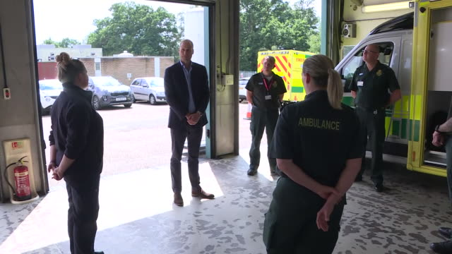 GBR: Prince William meeting ambulance crews in Kings Lynn