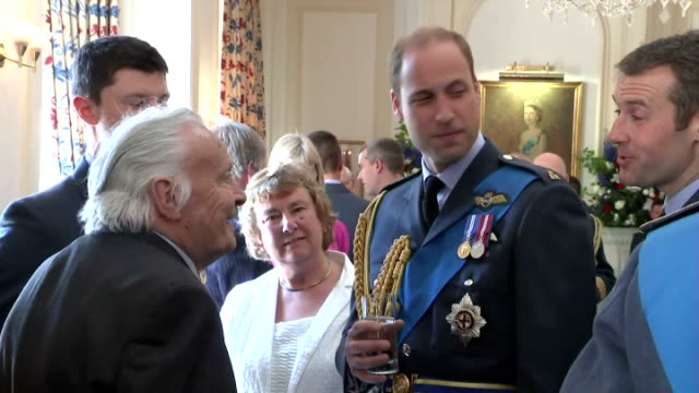 interior shots of prince william speaking to guests at raf club during event to mark the 75th anniversary of the battle of britain> on july 10 2015... - 75th anniversary stock videos & royalty-free footage