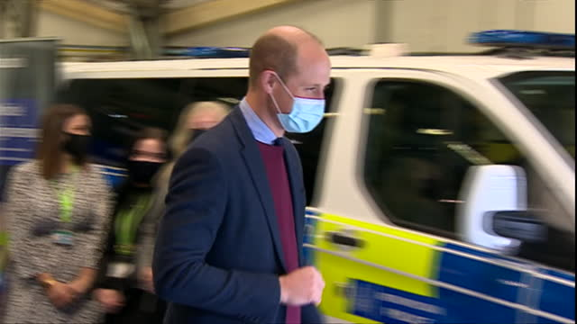 GBR: Duke of Cambridge takes a tour around an engineering company and opens Aston Villa's new High Performance Centre.