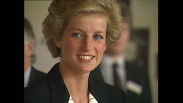 Interior shots of Princess Diana arriving at the Women Aids conference organised by the National Aids Trust on May 16 1990 in England