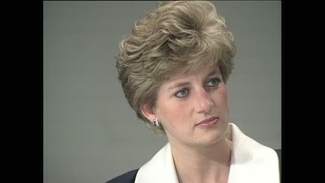 "interior shots of princess diana at a conference for aids ""living for tomorrow"" at the ica on december 1, 1991 in london, england. - princess stock videos & royalty-free footage"