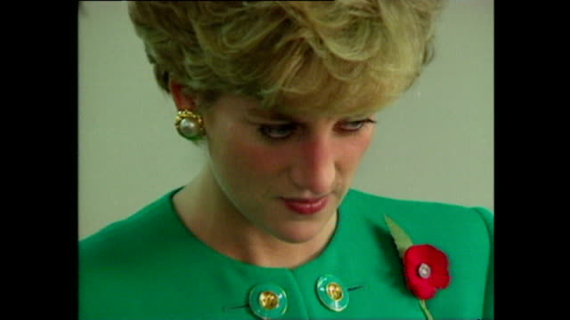 interior shots of princess diana princess of wales being shown round school and meeting small children in classroom during royal tour on 6 november... - south korea stock videos and b-roll footage