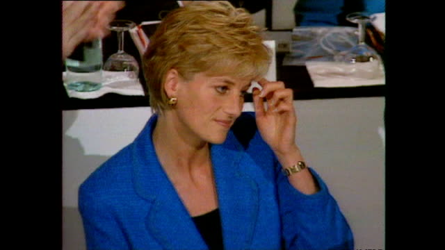 interior shots of princess diana princess of wales speaking at the pio manzu health conference on october 13 1996 in rimini italy - 1996 stock videos and b-roll footage