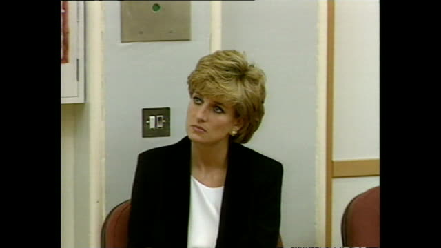 Interior shots of Princess Diana Princess of Wales visiting Broadmoor Hospital Richard Dadd Centre and listening to speech on 14 November 1995...