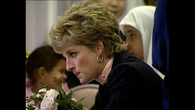 Interior shots of Princess Diana visiting a YMCA centre in Stockwell>> on February 02 1993 in London England