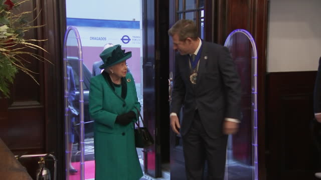 interior shots of queen elizabeth arriving at the headquarters of the royal philatelic society london meeting staff and patrons and browsing some of... - arts culture and entertainment stock videos & royalty-free footage