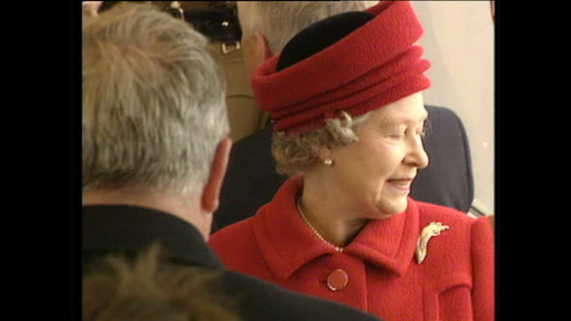 interior shots of queen elizabeth ii sat on the train at the official opening of the lagan bridge on december 19 1994 in belfast northern ireland - queen royal person stock videos & royalty-free footage