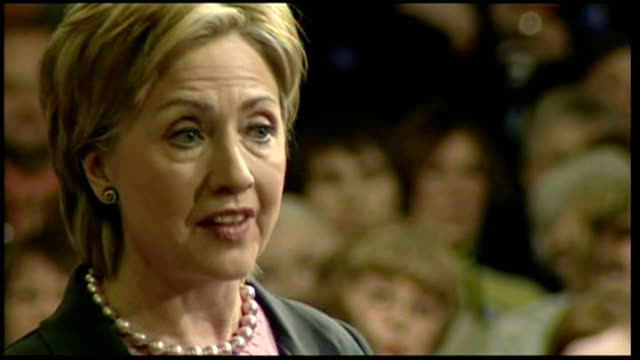 interior shots of republican presidential hopeful hillary clinton speaking to crowds at a rally in iowa on january 27, 2007 in des moines, iowa. - 2008 stock videos & royalty-free footage