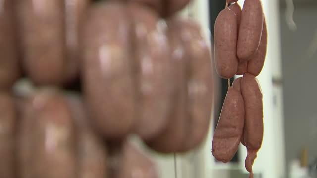GBR: UK: British butcher's shop stockshots.
