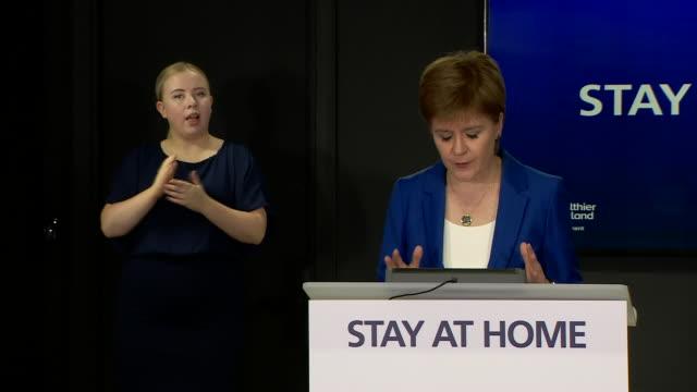 GBR: First Minister Nicola Sturgeon gives daily coronavirus press briefing
