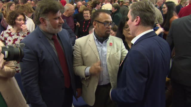 interior shots of sir keir starmer launching his leadership campaign on 11 january 2020 in manchester, united kingdom. - keir starmer stock videos & royalty-free footage
