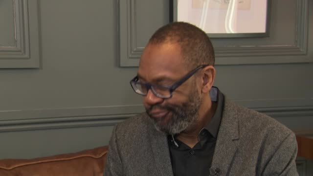 vídeos de stock e filmes b-roll de interior shots of sir lenny henry interivew about tax relief to boost diversity in film and tv on 6th november 2018 in lodnon, england, - lenny henry
