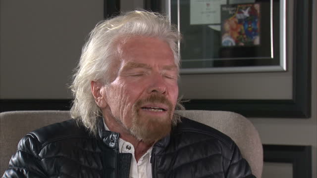 interior shots of sir richard branson being interviewed on how plastic waste is harming the environment on january 21 2017 in london england - sea life stock videos & royalty-free footage