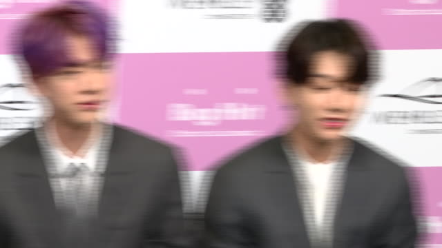 interior shots of southkorean boy band bts answering questions at a press conference on 01 june 2019 in london united kingdom - boy band stock videos & royalty-free footage
