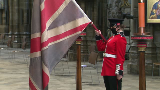 interior shots of special service being held at westminster abbey to mark the centenary of the burial of the unknown warrior on 11th november 2020... - tomb of the unknown warrior westminster abbey stock videos & royalty-free footage