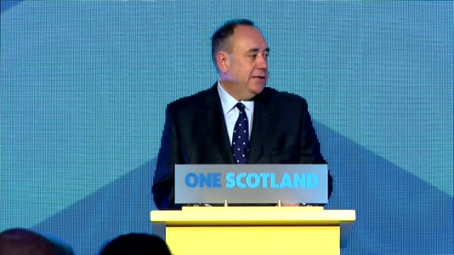 interior shots of speech by first minister alex salmond clean the unionist parties made vow's late in the campaign to devole more powers to scotland... - 2014 stock videos & royalty-free footage