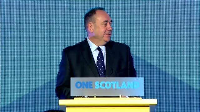interior shots of speech by first minister alex salmond on september 19 2014 in edinburgh scotland - 2014 stock videos & royalty-free footage