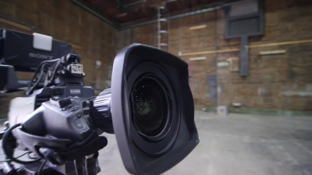 interior shots of studio cameras at an empty production on 4th june 2020 in twickenham, england - television stock videos & royalty-free footage