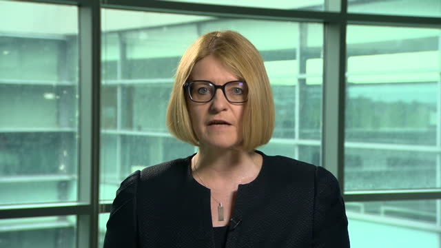 interior shots of sue hemming head of special crime at the crown prosecution service announcing that six people are to be charged in relation to the... - prosecution stock videos & royalty-free footage