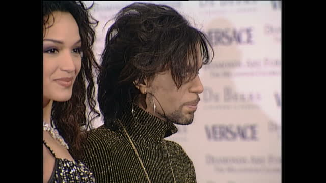 interior shots of the artist prince at the versace diamonds fashion show at syon house on june 9th 1999 in london england - プリンス点の映像素材/bロール