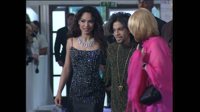 interior shots of the artist prince at the versace diamonds fashion show at syon house on june 9th 1999 in london england - fashion collection stock videos & royalty-free footage