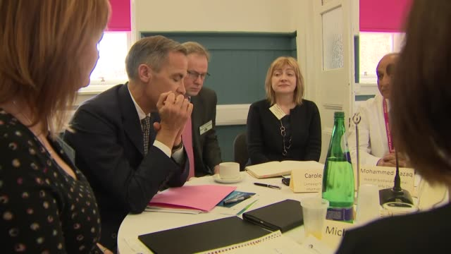 interior shots of the bank of england governor mark carney meeting local community and business associations on 3 april 2019 in glasgow united kingdom - 中央銀行点の映像素材/bロール