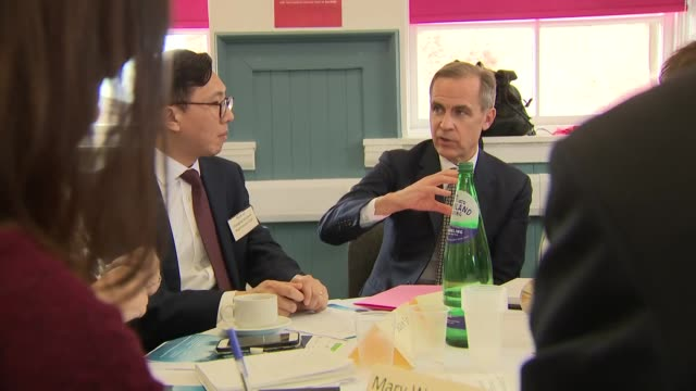 Interior shots of the Bank of England Governor Mark Carney meeting local community and business associations on 3 April 2019 in Glasgow United Kingdom