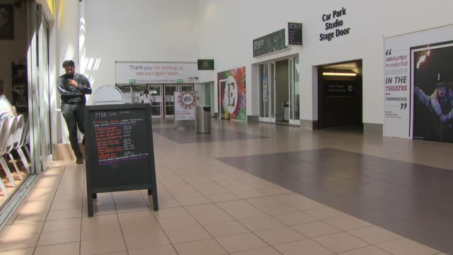 interior shots of the constituency office with sign of chris williamson in a shopping centre on 28 june 2019 in derby united kingdom - mp stock-videos und b-roll-filmmaterial