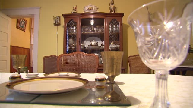 Interior shots of the dining room in the Jackson Home Museum in Selma>> on March 07 2015 in Selma Alabama