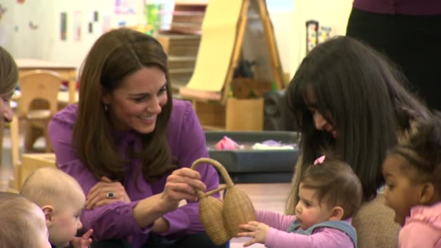 interior shots of the duchess of cambridge during a visit to henry fawcett children's centre in lambeth on 12 march 2019 in london united kingdom - lambeth stock videos & royalty-free footage