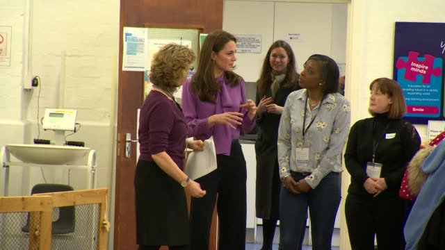interior shots of the duchess of cambridge visiting the henry fawcett children's centre in lambeth on 12 march 2019 in london, united kingdom. - lambeth stock videos & royalty-free footage