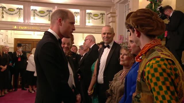 interior shots of the duke and duchess of cambridge meeting the cast of mary poppins the royal variety performance at the palladium theatre on 18... - arts culture and entertainment stock videos & royalty-free footage