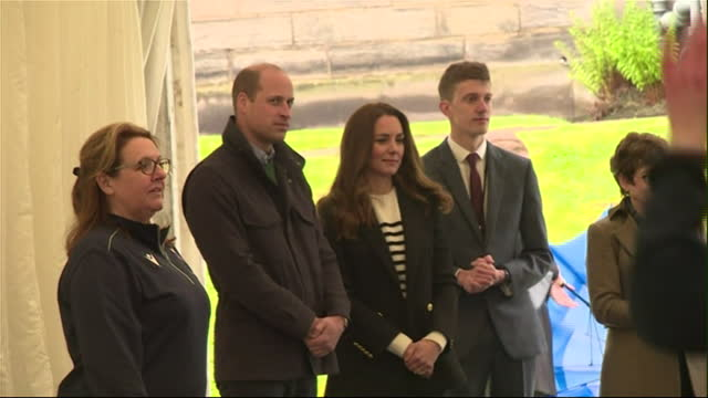 interior shots of the duke and duchess of cambridge observing and chatting with salsa students during a visit to the university of st andrews on 27th... - dance studio stock videos & royalty-free footage