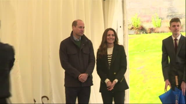 interior shots of the duke and duchess of cambridge observing students dancing to salsa music during a visit to the university of st andrews on 27th... - dance studio stock videos & royalty-free footage