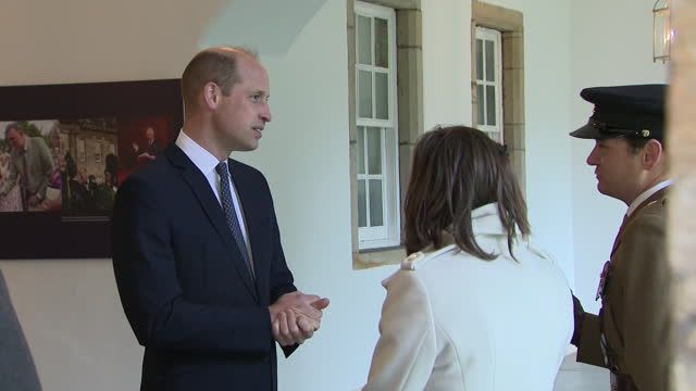 stockvideo's en b-roll-footage met interior shots of the duke of cambridge talking to guests at holyrood house after attending the ceremony of the keys on 22nd may 2021 - clean