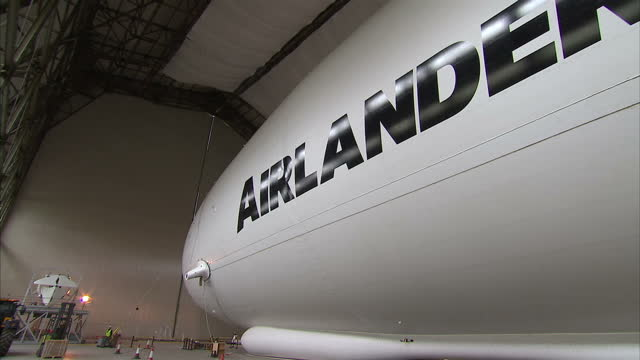 Interior shots of the HAV3 Airlander blimp inside hanger on March 06 2016 in Bedford England