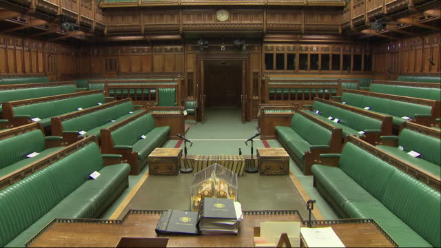 interior shots of the house of commons on 14 january 2019 in london united kingdom - 庶民院点の映像素材/bロール