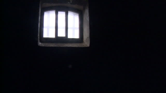 interior shots of the landing and cells in kilmainham gaol where the leaders of the 1916 easter rising where held before their execution including... - execution stock-videos und b-roll-filmmaterial