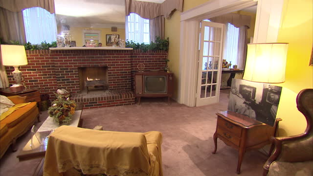 Interior shots of the living room in the Jackson House Museum in Selma>> on March 07 2015 in Selma Alabama