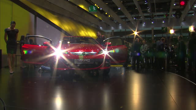 interior shots of the new vauxhall astra & opel impera models on display 2010 paris motor show on september 30, 2010 in paris, france - 50 seconds or greater stock videos & royalty-free footage