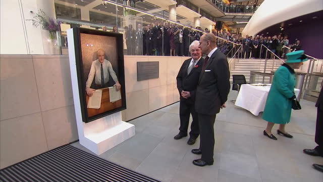 interior shots of the queen and duke of edinburgh signing a visitors book at the opening of the francis crick institute on november 09 2016 in london... - francis crick stock videos & royalty-free footage