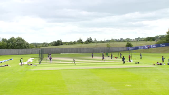 interior shots of the west indies team doing net practice - netting stock videos & royalty-free footage