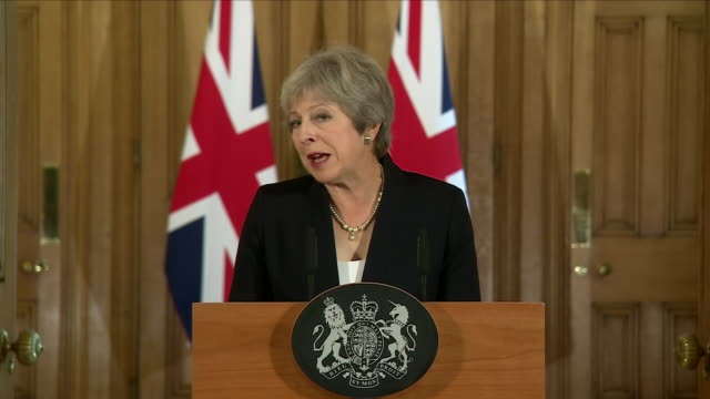 Interior shots of Theresa May British Prime Minister making a statement after the Salzburg conference on Brexit on 21 September 2018 in London United...