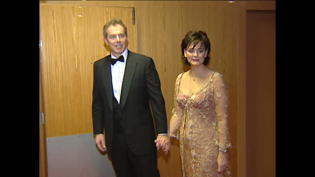 Interior shots of Tony Blair his wife Cherie Blair arriving at a Commonwealth Summit on December 5 2003 in Abuja Nigeria