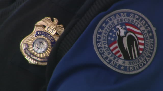Interior shots of TSA security officers working at Reagen airport on 10 January 2019 in Virginia United States
