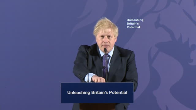 interior shots of uk prime minister boris johnson claims he has a deeal with the eu at the old royal naval college in greenwich on 3rd february 2020... - royal navy college greenwich stock videos & royalty-free footage
