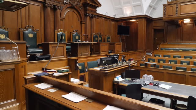 interior shots old bailey court rooms on 13 january 2020 in london, united kingdom - オールドベイリー点の映像素材/bロール