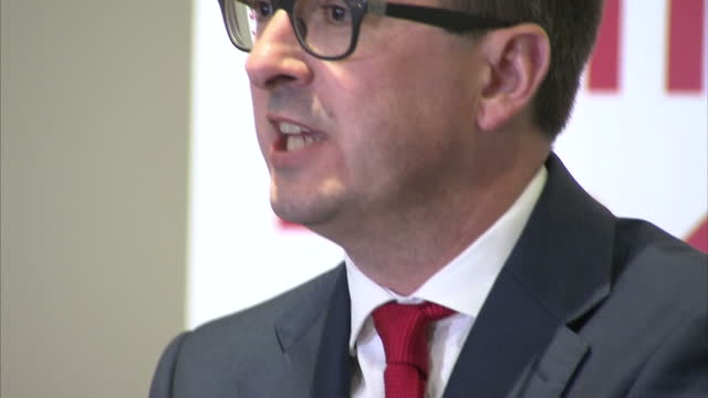 interior shots owen smith mp labour leadership candidate at campaign event on august 08 2016 in newcastle upon tyne england - owen smith politician stock videos & royalty-free footage