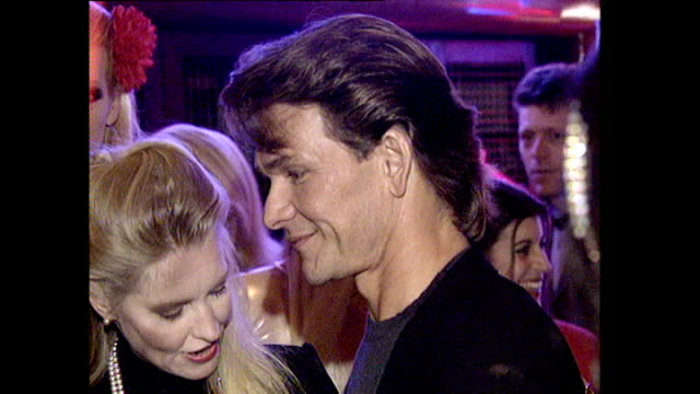 Interior shots Patrick Swayze American Actor With his wife Lisa Niemi American Actress Seen at the film premiere of To Wong Foo Thanks For Everything...