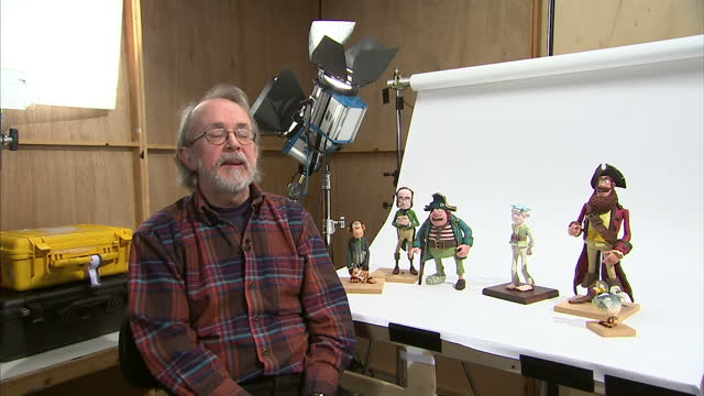 Interior shots Peter Lord talks about bemusement at not being nominated for a BAFTA initial disbelief that Aardman had been nominated for an Oscar...